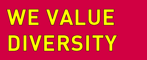 We value diversity - Diamo valore alle diversità