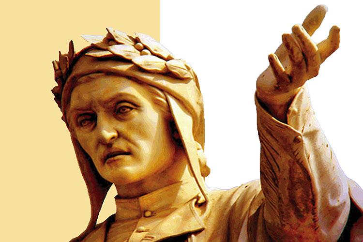 Dettaglio della locandina: statua di Dante
