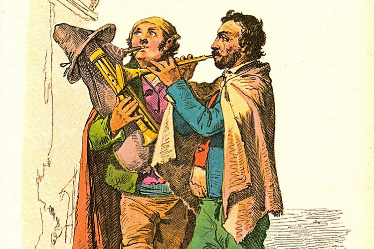 illustrazione di suonatori