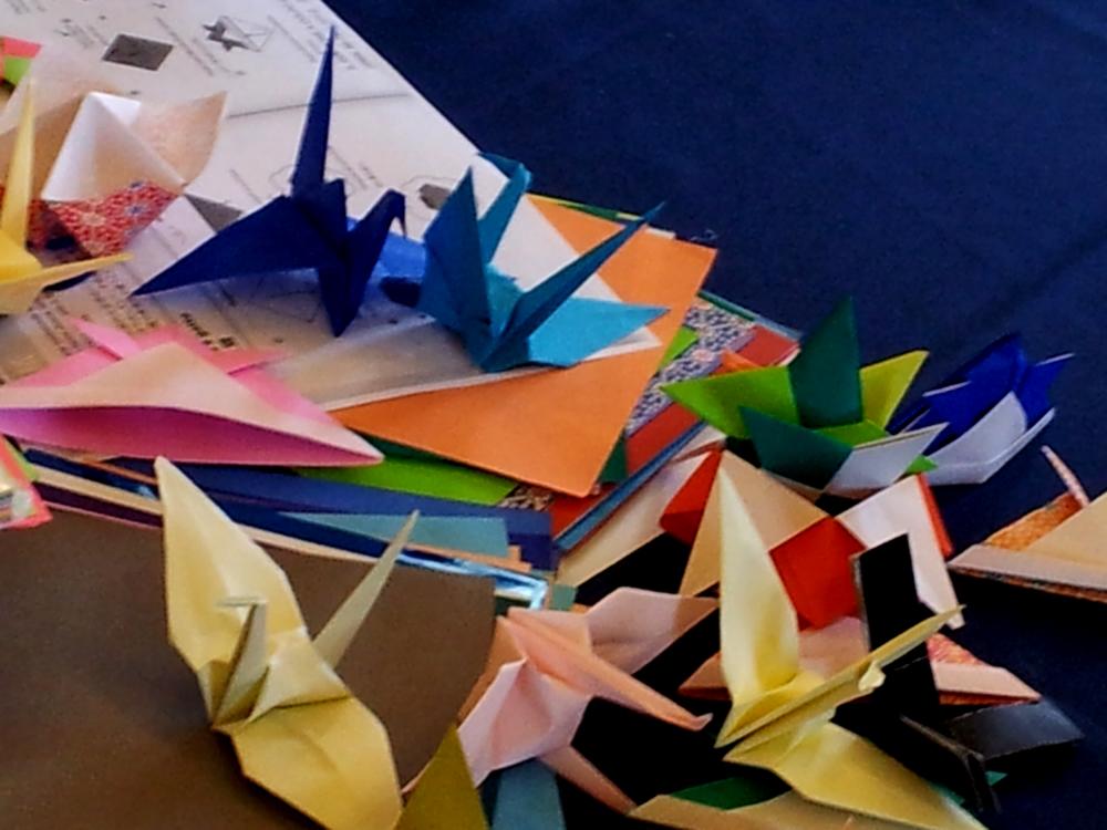 Immagine di origami colorati