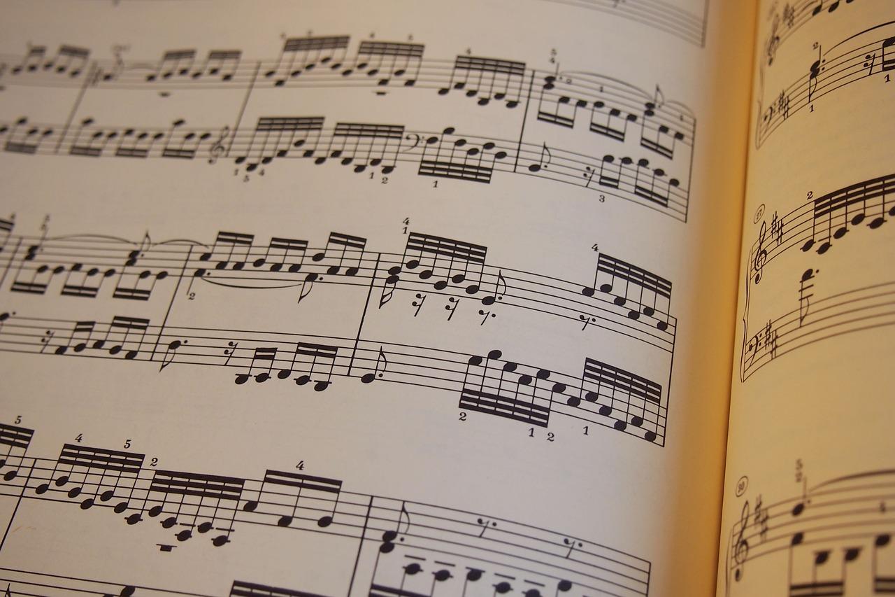 Immagine di spartito musicale