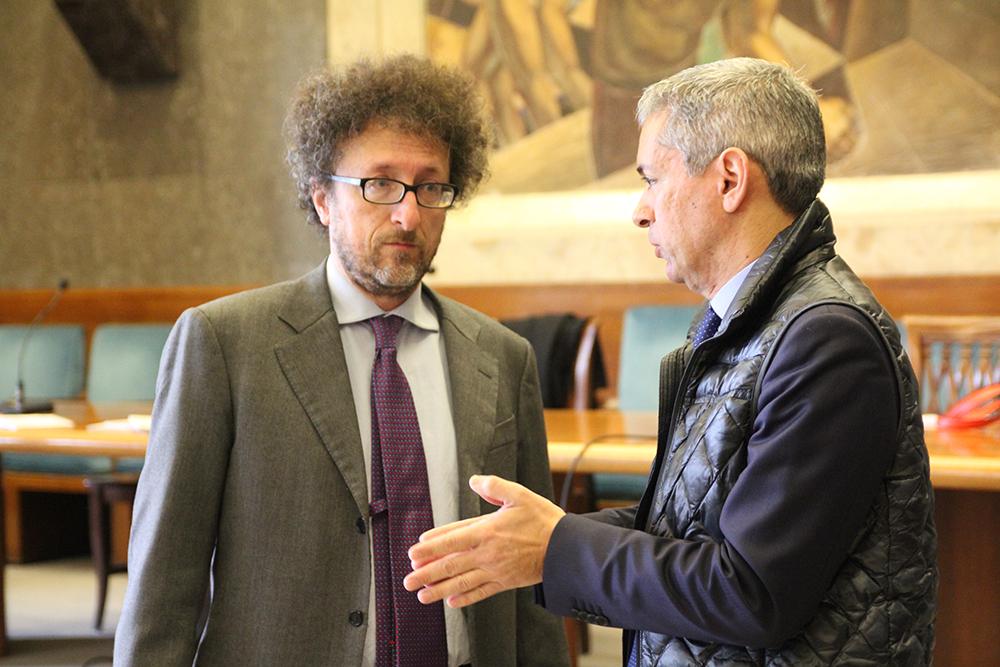 Il Direttore Generale e il prof. Cingari