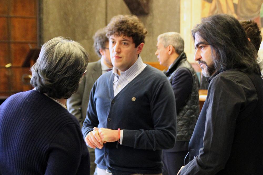 Il prof. Terrinoni e la prof.ssa Mori