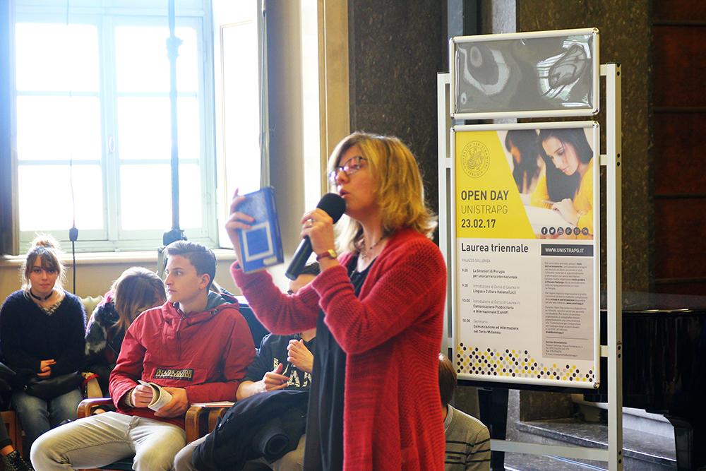La prof.ssa Monia Andreani