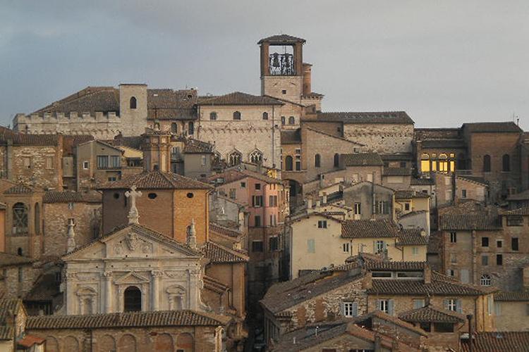 uno scorcio del centro storico di Perugia