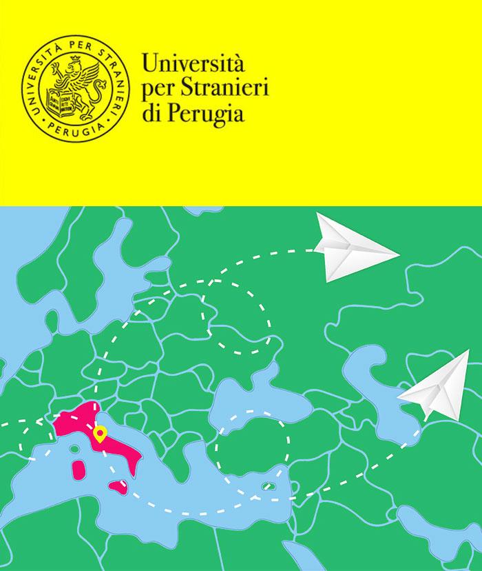 Italia evidenziata in una mappa