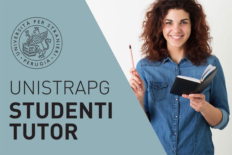 studenti tutor - scritta e ragazza sorridente