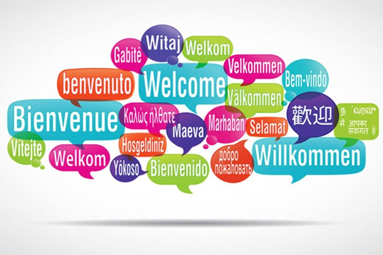 Benvenuto tradotto in varie lingue del mondo