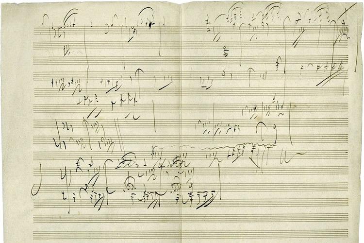 Immagine di appunti di Beethoven