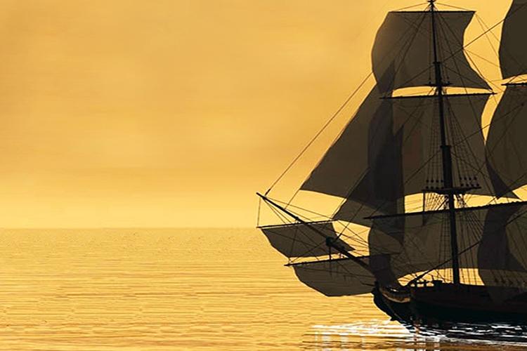 Dettaglio della locandina: veliero sul mare