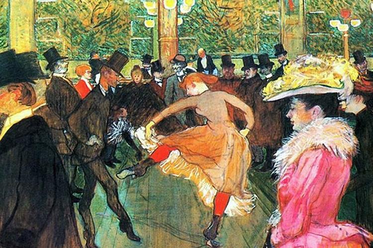 Dettaglio della locandina: un'opera di Lautrec