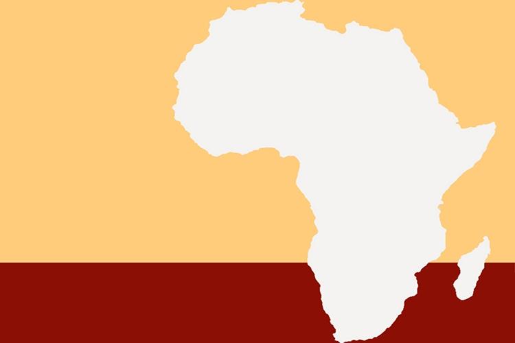 Dettaglio della locandina: immagine dell'Africa