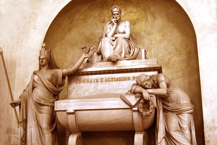 Dettaglio della locandina: la tomba di Dante
