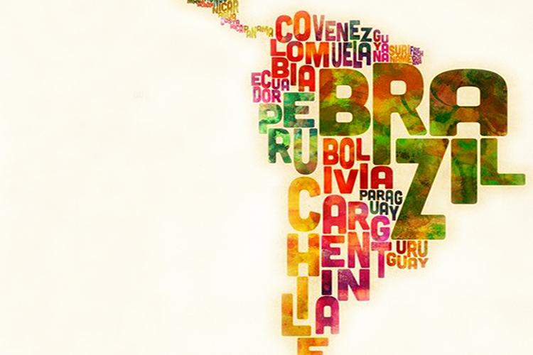 Dettaglio della locandina: rappresentazione dell'America latina