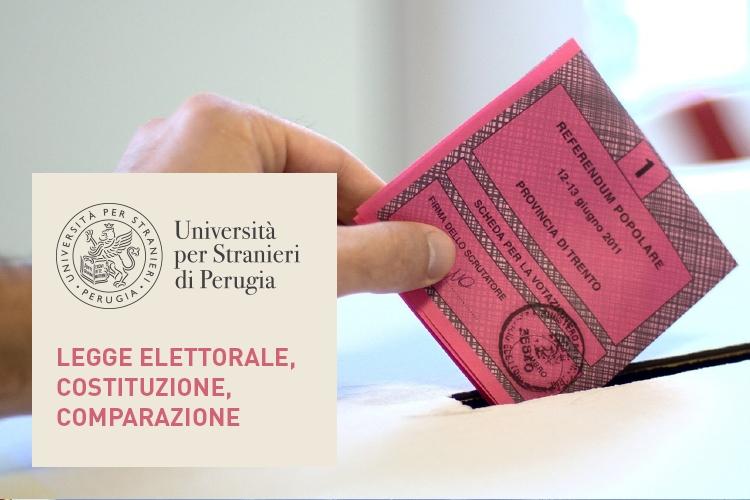 Dettaglio della locandina: scheda elettorale che viene infilata nell'urna