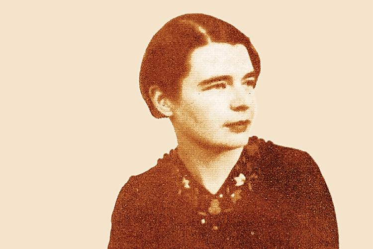 Dettaglio della locandina: Marguerite Yourcenar da giovane