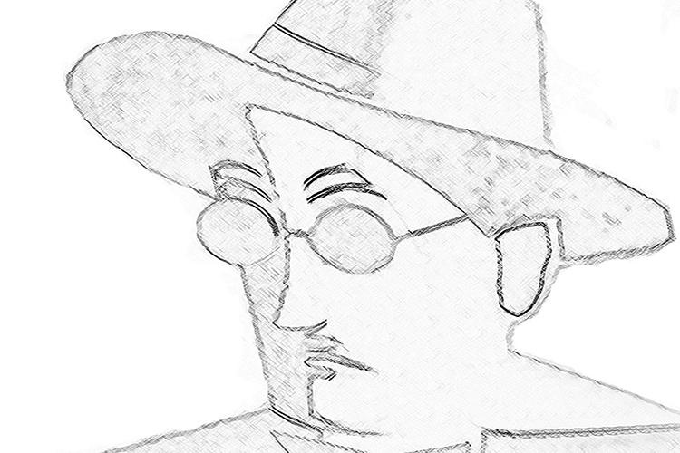 Dettaglio della locandina: ritratto di Joyce