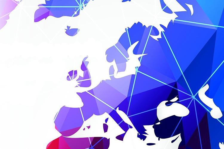 Dettaglio della locandina: mappa dell'Europa