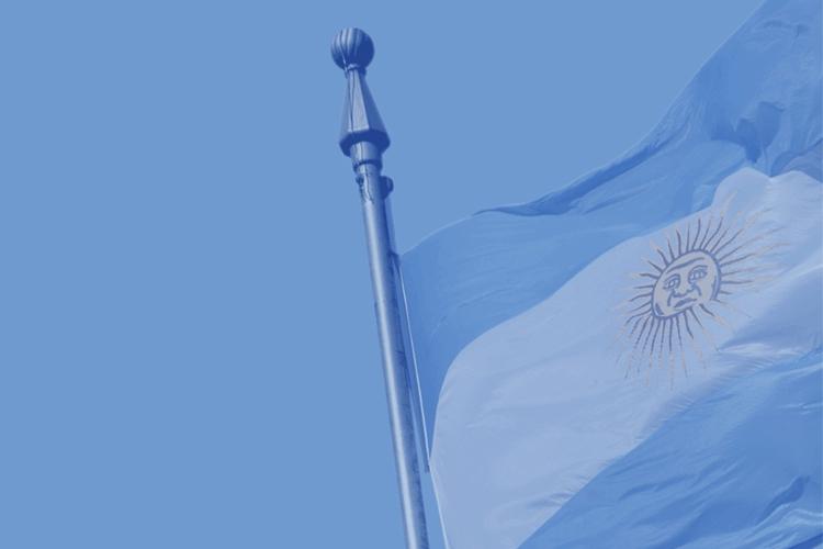 dettaglio della bandiera dell'Argentina