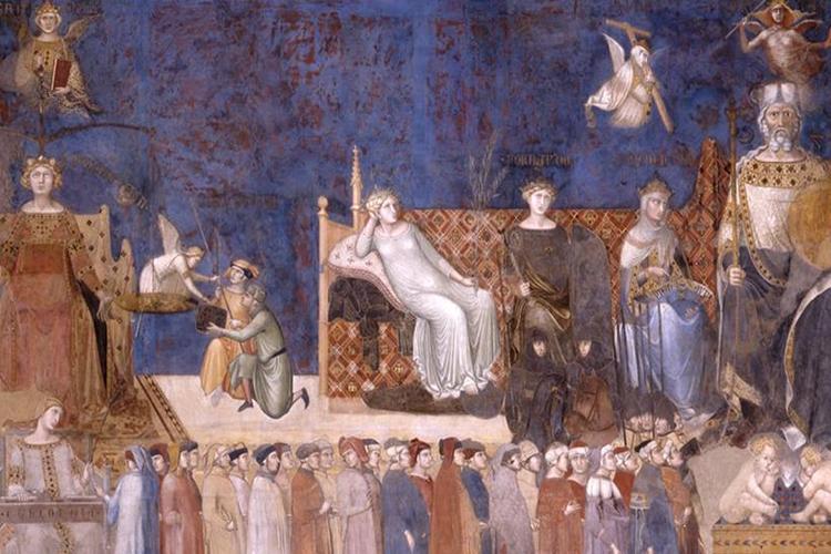 Dettaglio della locandina: allegoria del buon governo