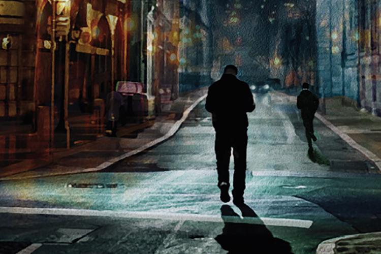 """Dettaglio della copertina de """"Le tre del mattino"""""""