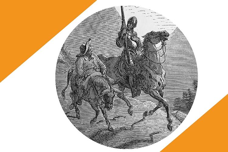 Dettaglio della locandina: Don Chisciotte e Sancio