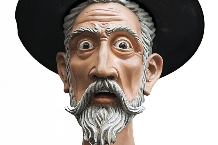 Dettaglio della locandina: raffigurazione di Don Chisciotte