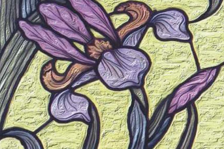 Dettaglio della locandina: un iris