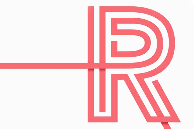 """Dettaglio della copertina del libro: lettera """"R"""""""