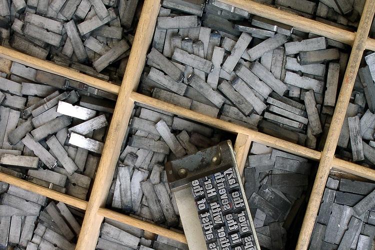 Dettaglio della locandina: i caratteri tipografici