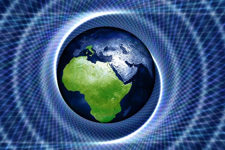 Dettaglio della locandina: immagine del pianeta terra