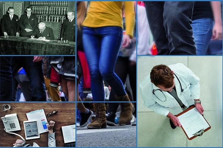 Dettaglio della locandina: collage di immagini