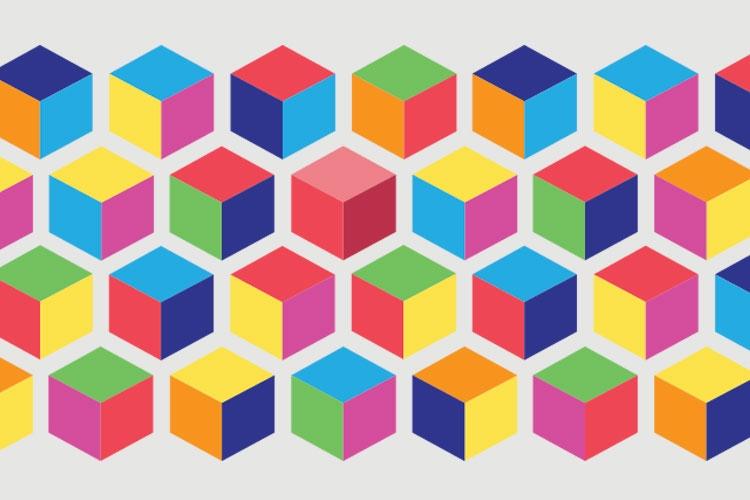 texture di cubi colorati