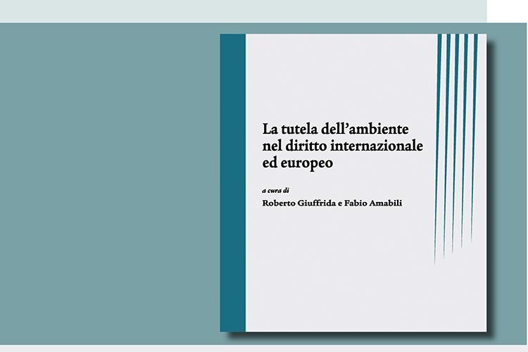 """la copertina del libro presentato durante l'evento: """"La tutela dell'ambiente nel diritto internazionale ed europeo"""""""
