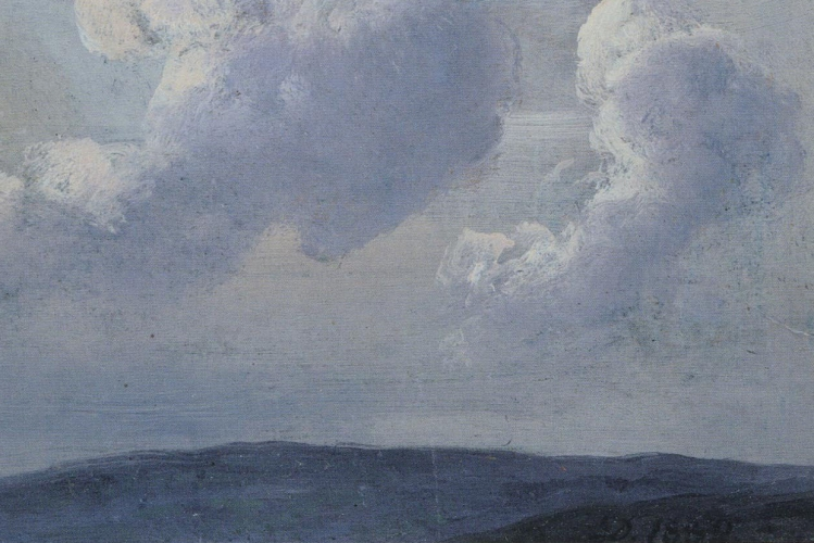 """particolare della copertina de """"the Prelude"""": paesaggio nuvoloso"""
