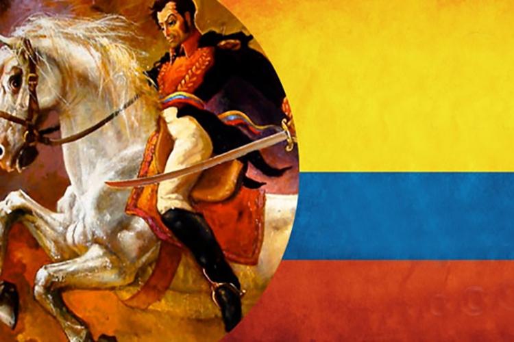 Dettaglio della locandina: bandiera colombiana