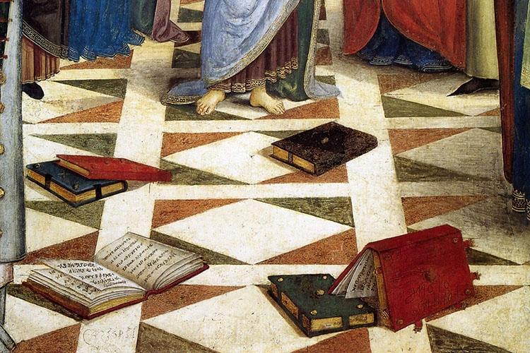 """particolare di dipinto presente all'interno della """"Cappella Bella"""""""