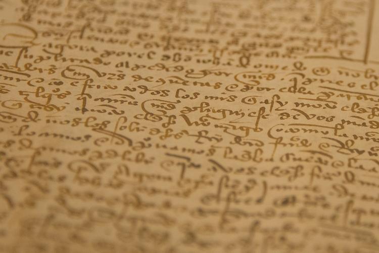 particolare di manoscritto