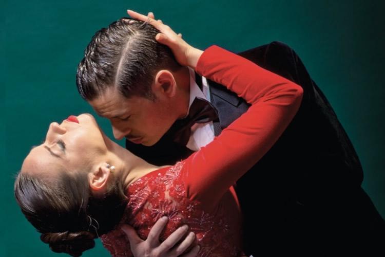 Dettaglio della locandina: coppia di ballerini di tango
