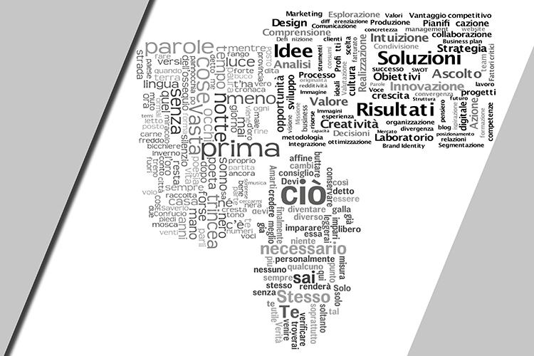 Dettaglio della locandina: nuvola di parole