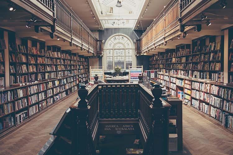 Dettaglio della locandina: una biblioteca