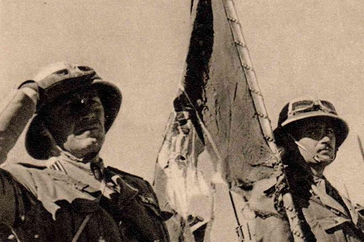 Particolare della locandina: immagine della guerra d'Etiopia