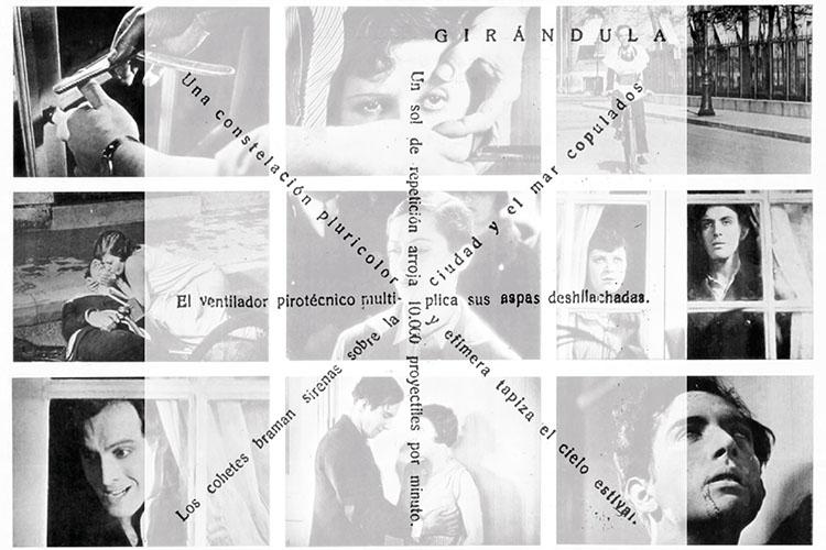 Particolare della locandina: collage di fotogrammi