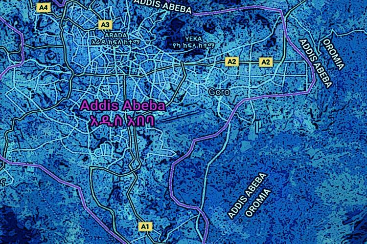 Mappa di Addis Abeba