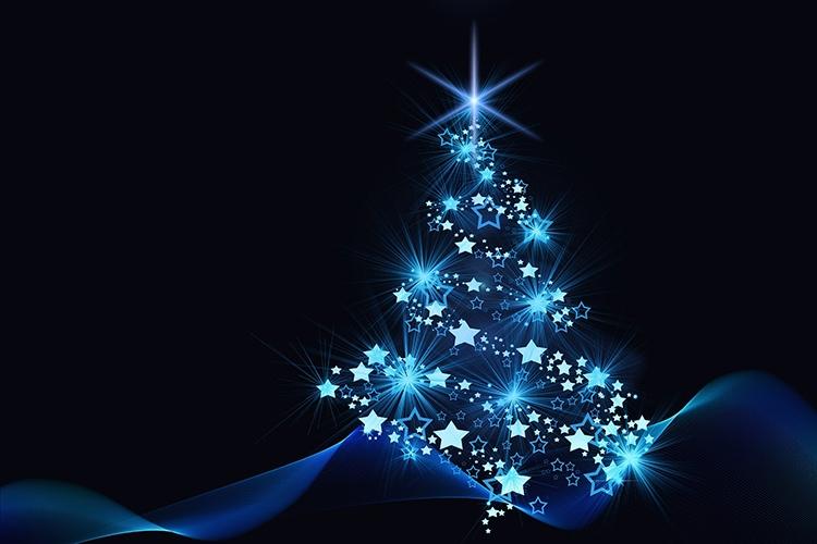 albero di Natale formato da stelle
