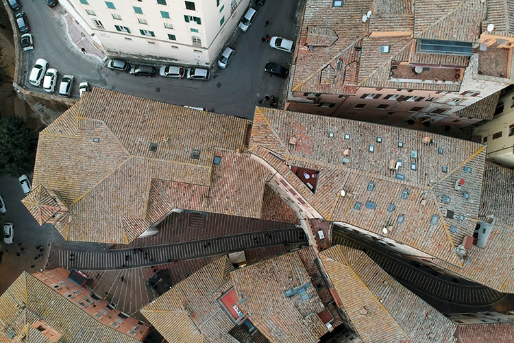 foto dall'alto di Perugia