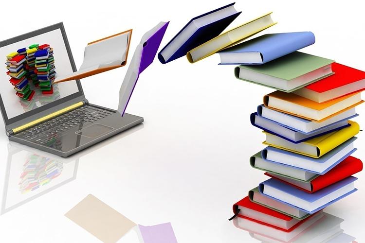 """libri che """"escono"""" da un computer"""