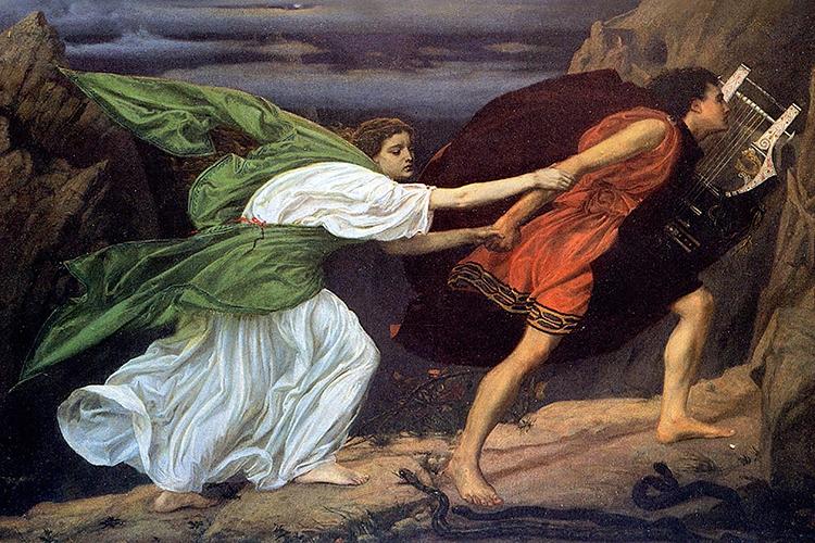 rappresentazione pittorica di Orfeo ed Euridice