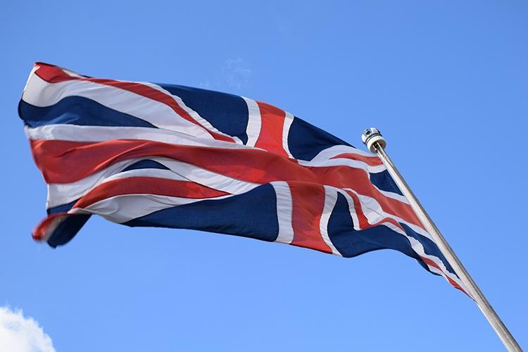 la bandiera del Regno Unito