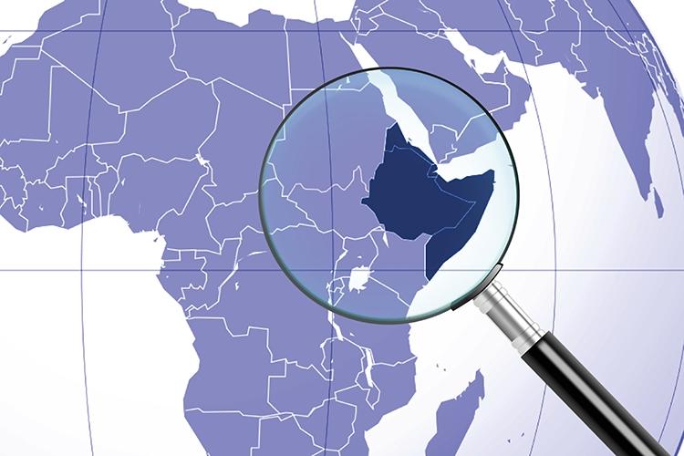 lente d'ingrandimento sul corno d'Africa